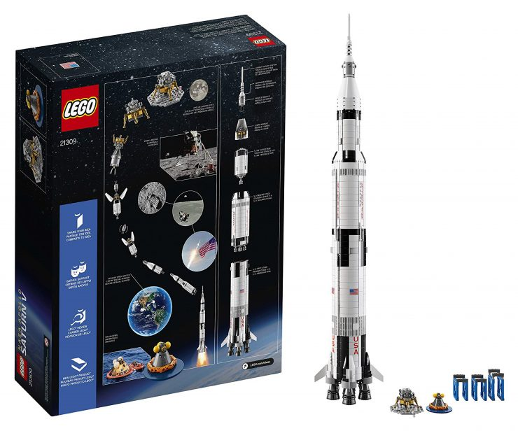 NASA Apollo Saturn V Rocket Lego Kit 6 740x616 - NASA Apollo Saturn V Rocket Lego Kit - Over 1 Meter High
