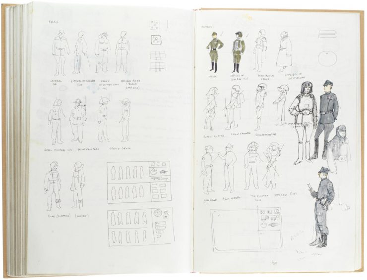 Star Wars Costume Design Sketch Book 1