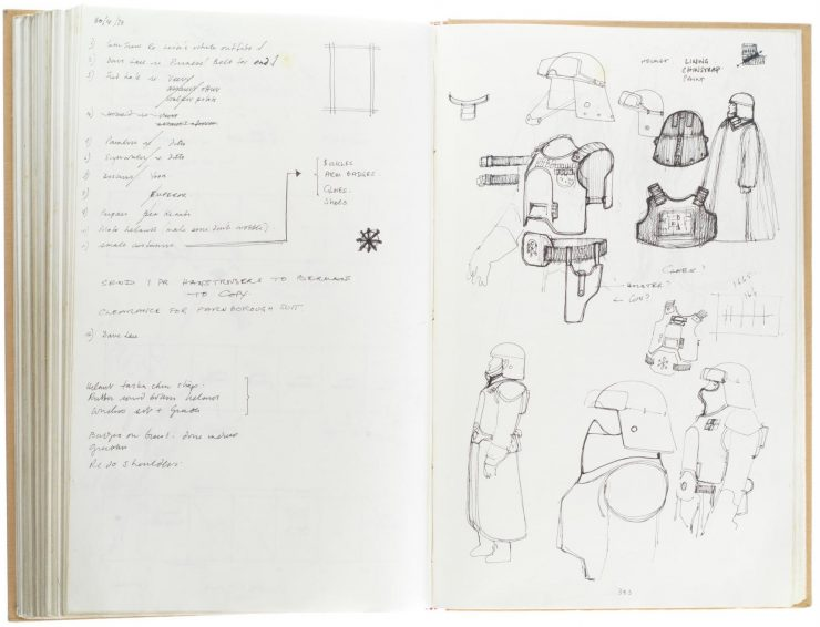 Star Wars Costume Design Sketch Book 3