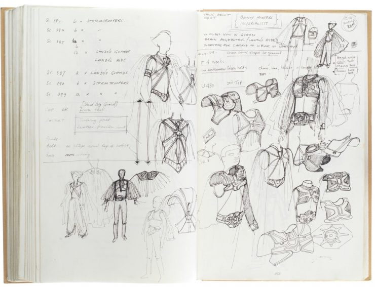 Star Wars Costume Design Sketch Book 9