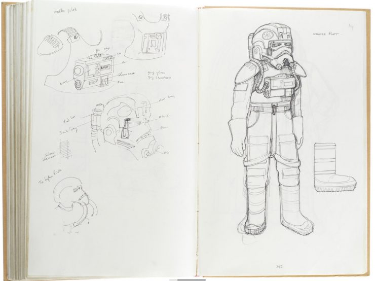 Star Wars Costume Design Sketch Book Main 1