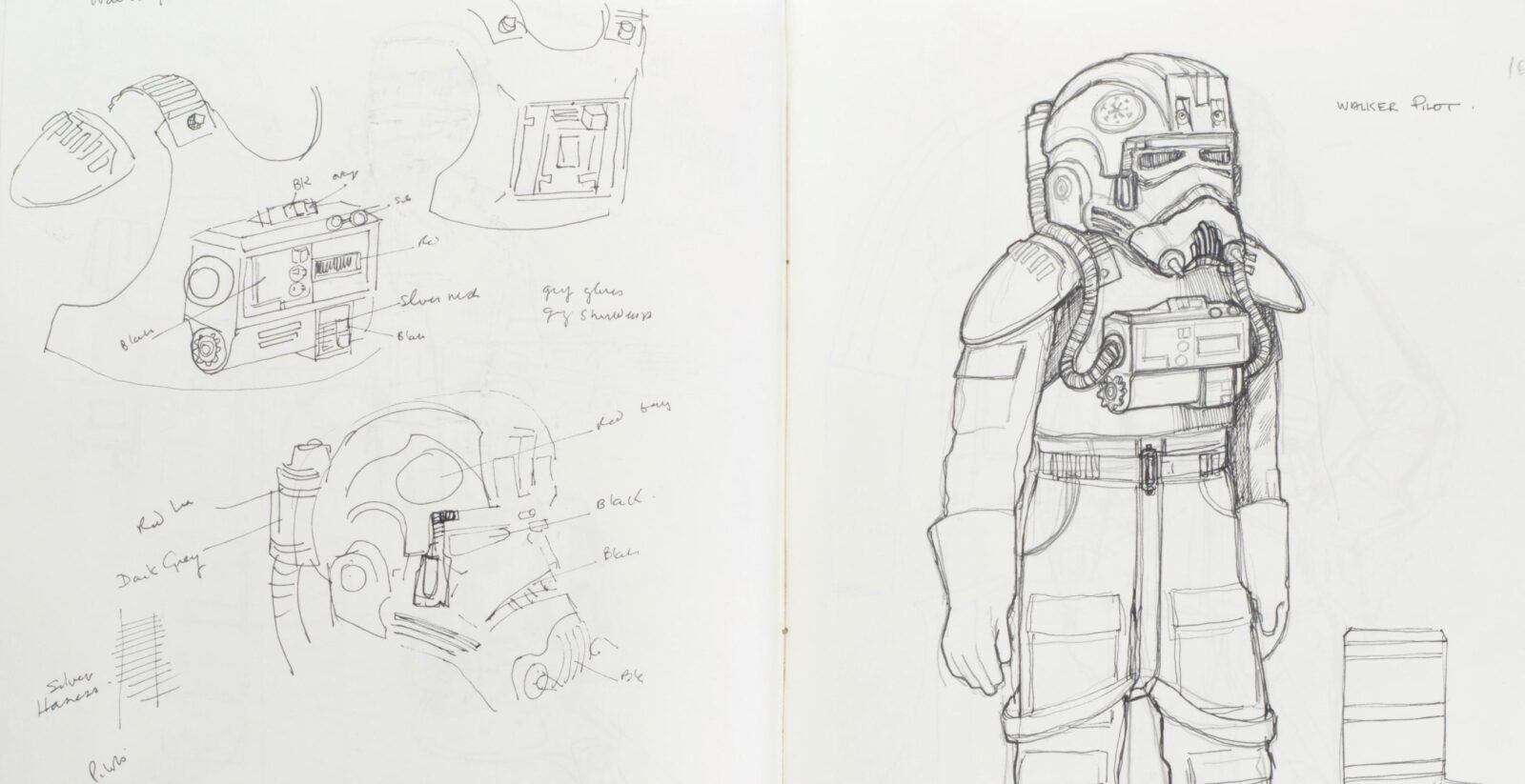Star Wars Costume Design Sketch Book Main