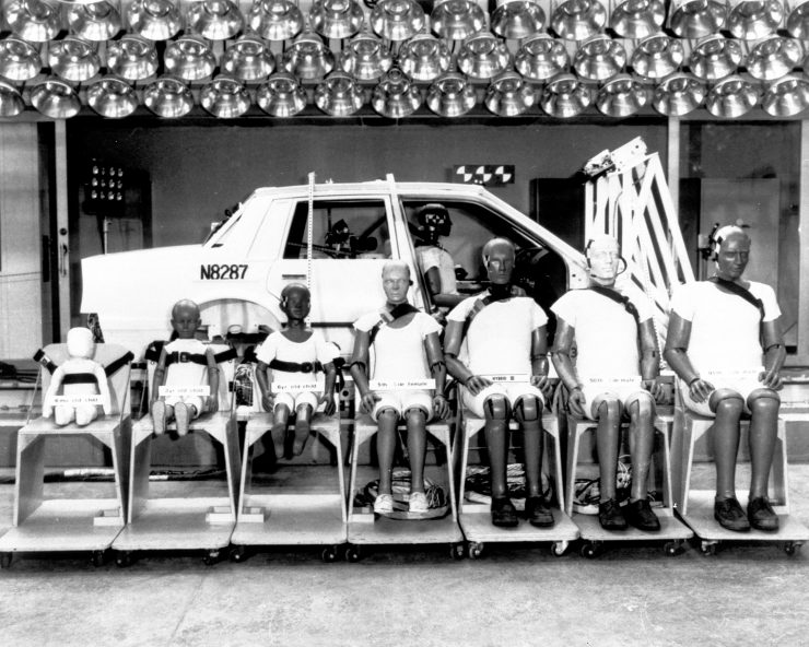 1972 - General Motor Company's Hybrid II series of crash test dummies