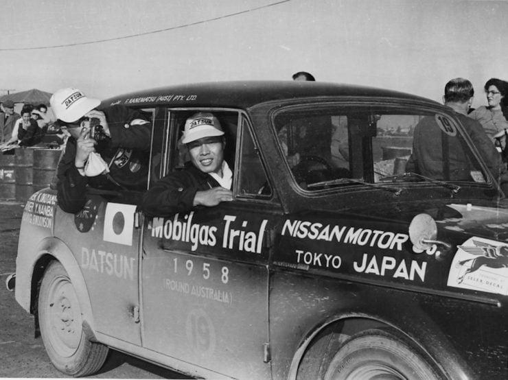 Yutaka Katayama 1958 Mobilgas Trial