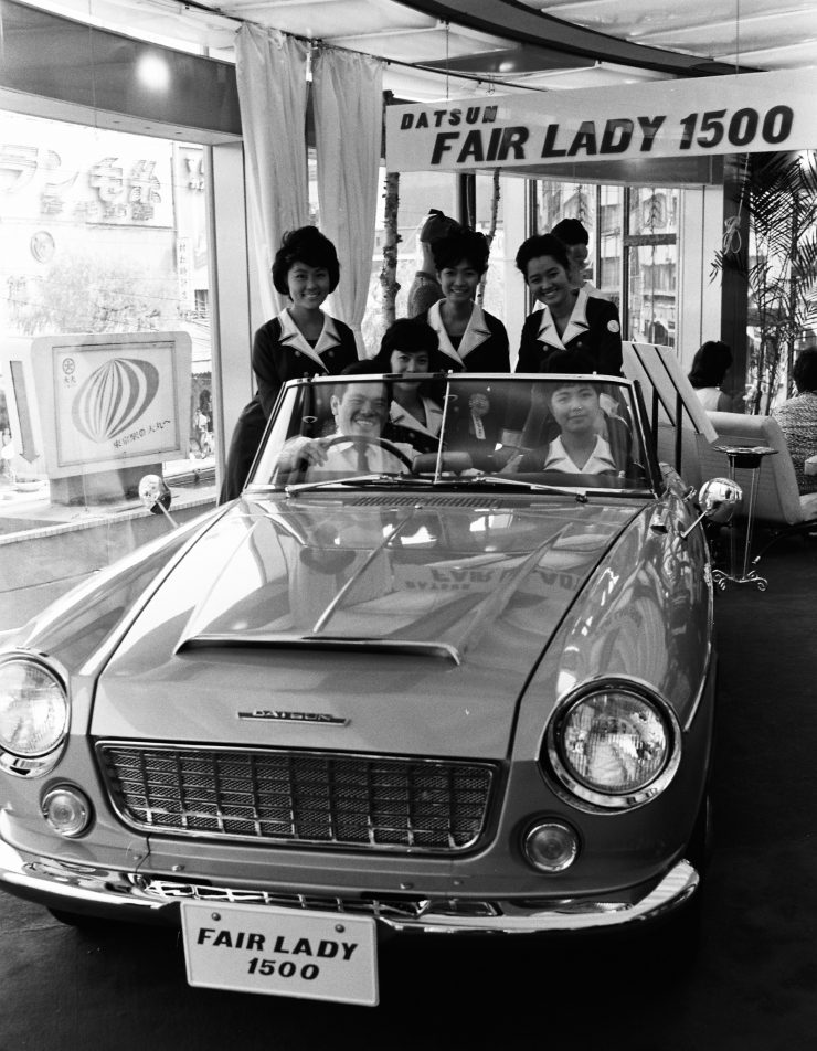 Datsun 1500 Fairlady sports car Miss Fairladies
