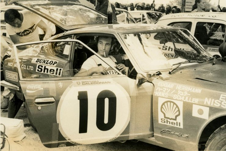 Edgar Herrmann Hans Schuller Datsun 240Z 20th East African Safari Rally