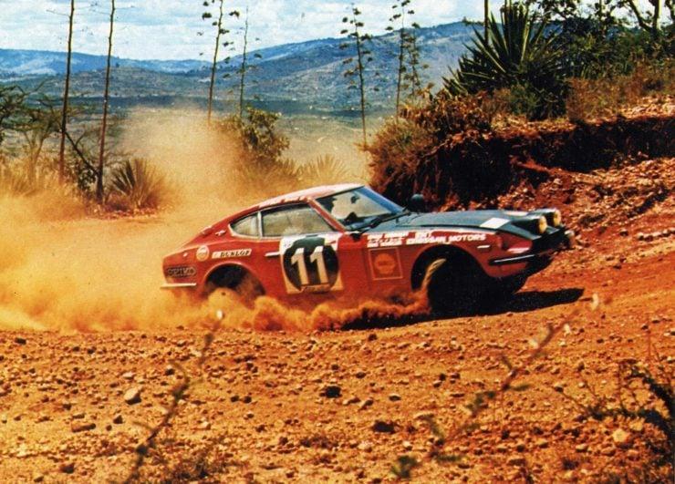 East African Safari Rally Datsun 240Z Edgar Herrmann Hans Schüller