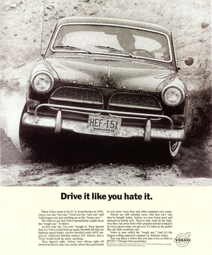Volvo Amazon advertisement