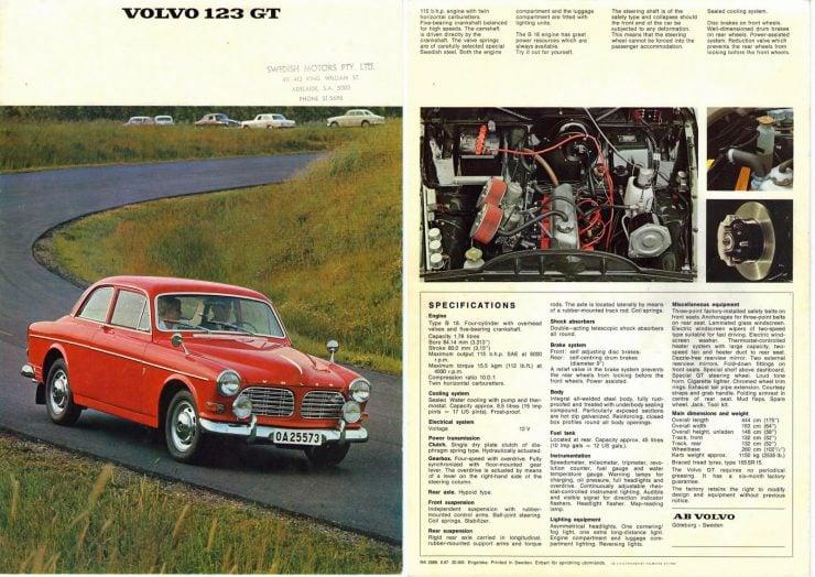 Volvo Amazpn 123GT brochure