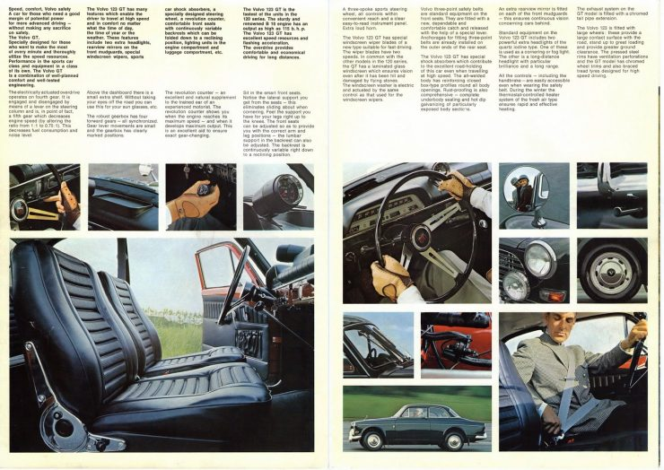Volvo Amazon car brochure