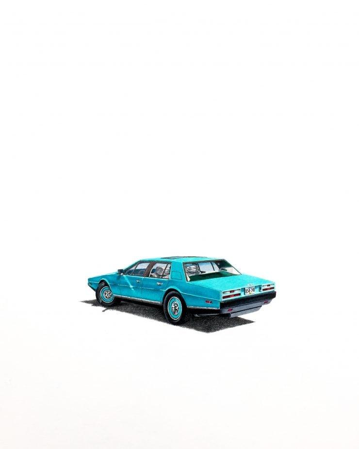 Aston Martin Automotive Art Arsenio