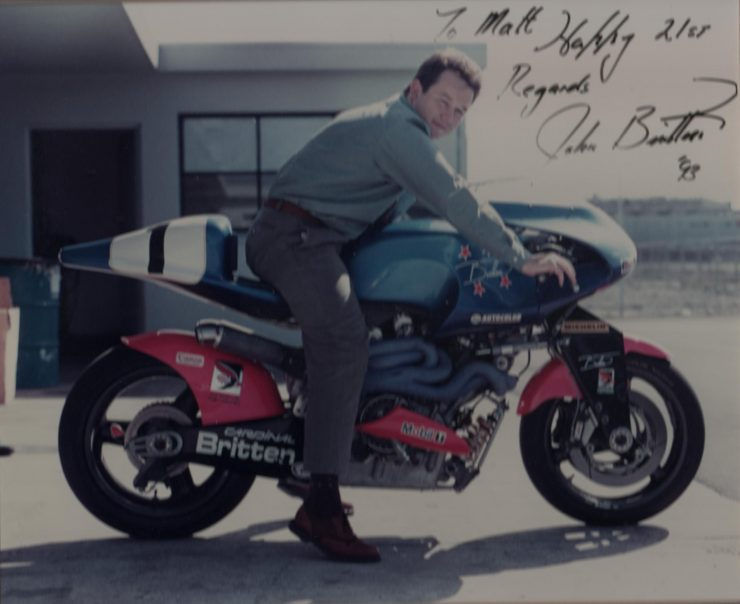 Britten V1000 Motorcycle Signed By John Britten