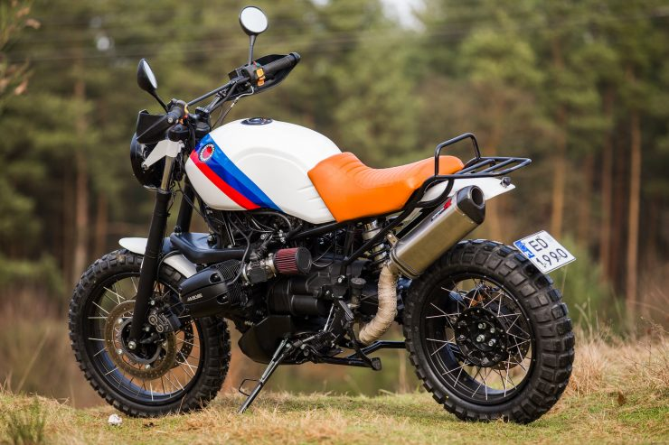 Custom BMW R1100 GS Side