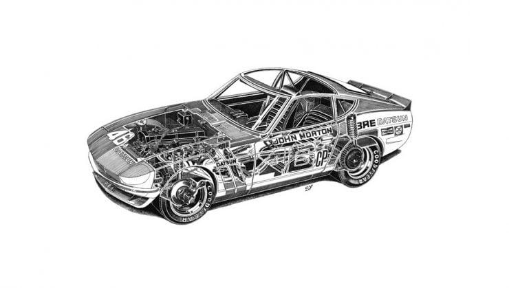 Datsun 240Z Cutaway
