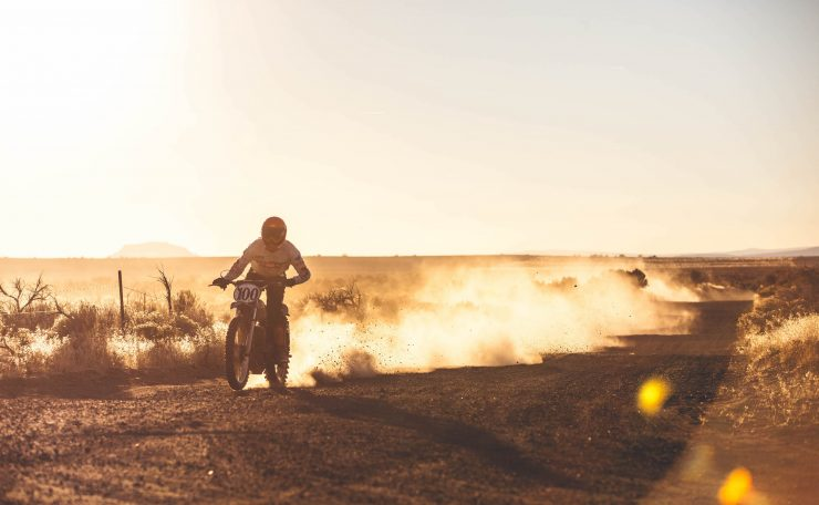 Desert Race Motorcycle
