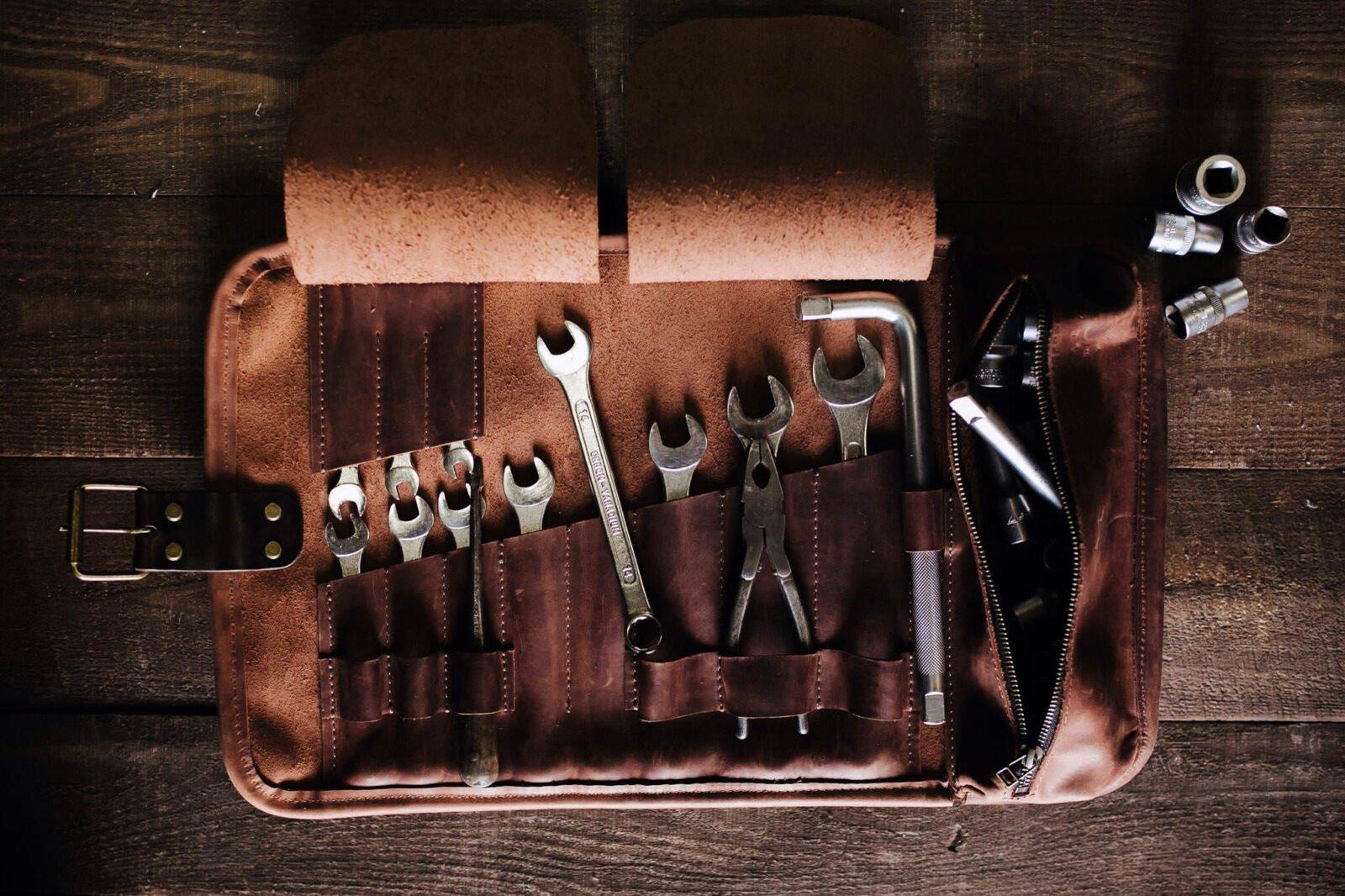 Leather Tool Roll Kruk Garage