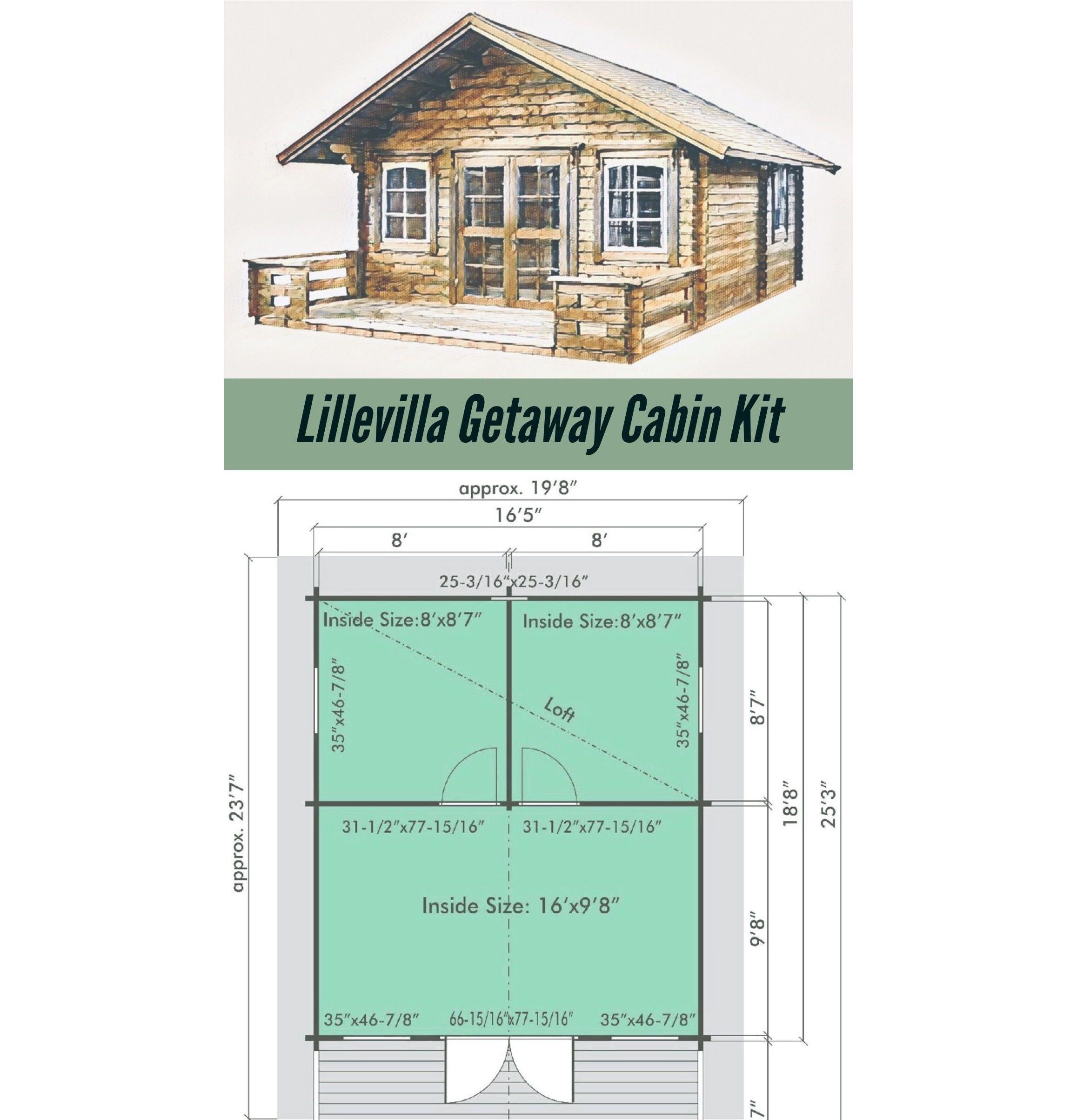 Lillevilla Allwood Getaway Cabin Kit 18 800 Usd