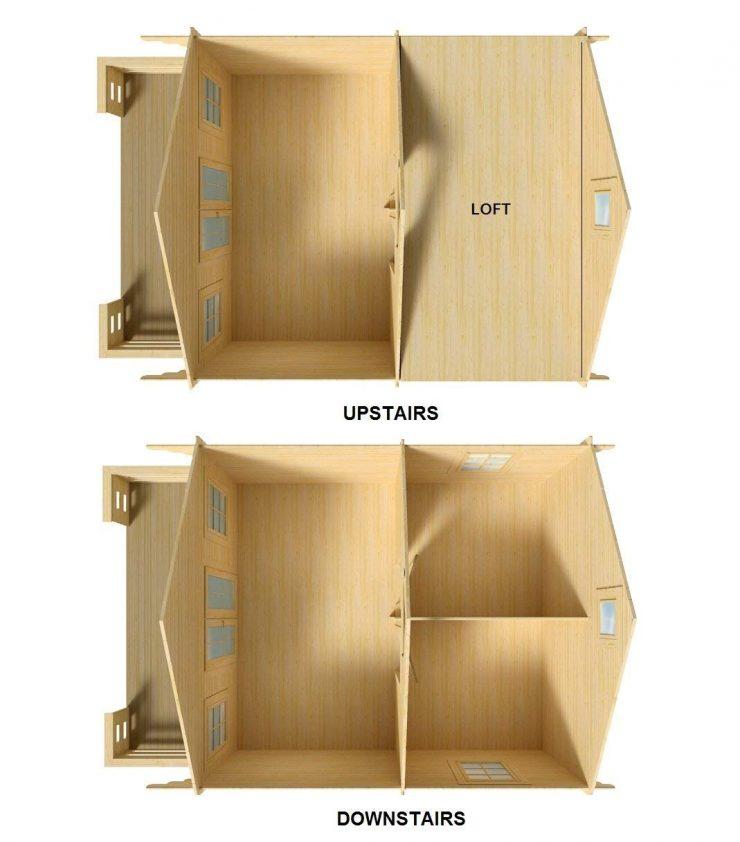 Lillevilla Allwood Cabin Kit Getaway Interior