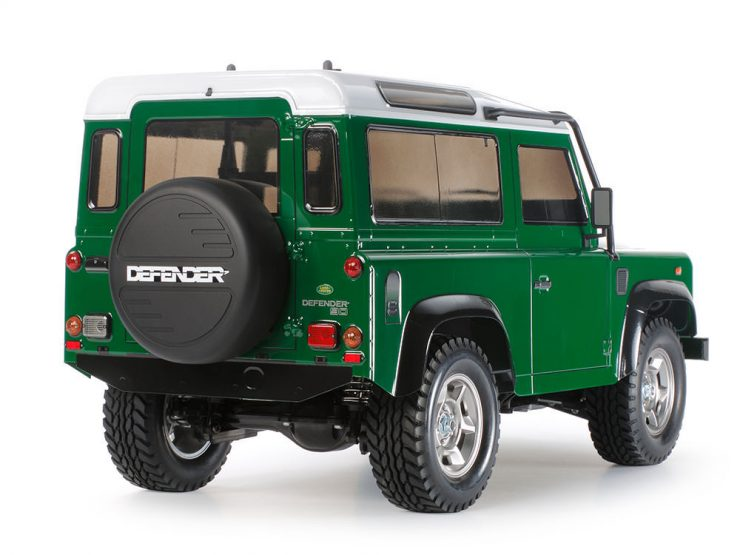 Tamiya Land Rover Defender RC Model Back