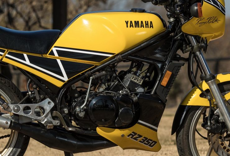 Yamaha RZ350 Kenny Roberts Edition Engine 3