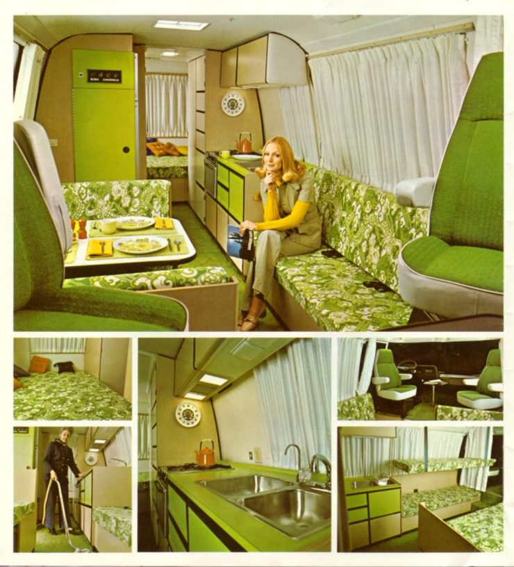 GMC Motorhome interior advertisement