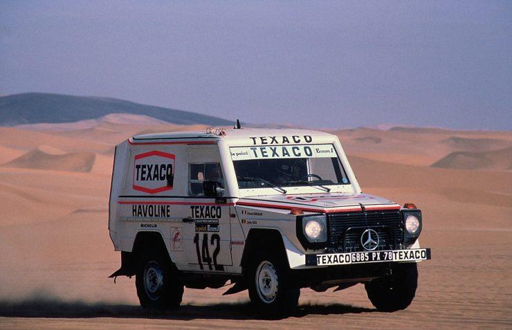 Mercedes G-Wagen Paris Dakar Rally Jacky Ickx Claude Brasseur