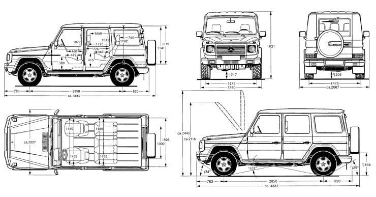 Mercedes-Benz G-Wagen long wheelbase station wagon