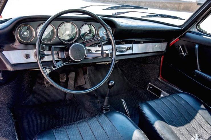 Porsche 912 sports car interior