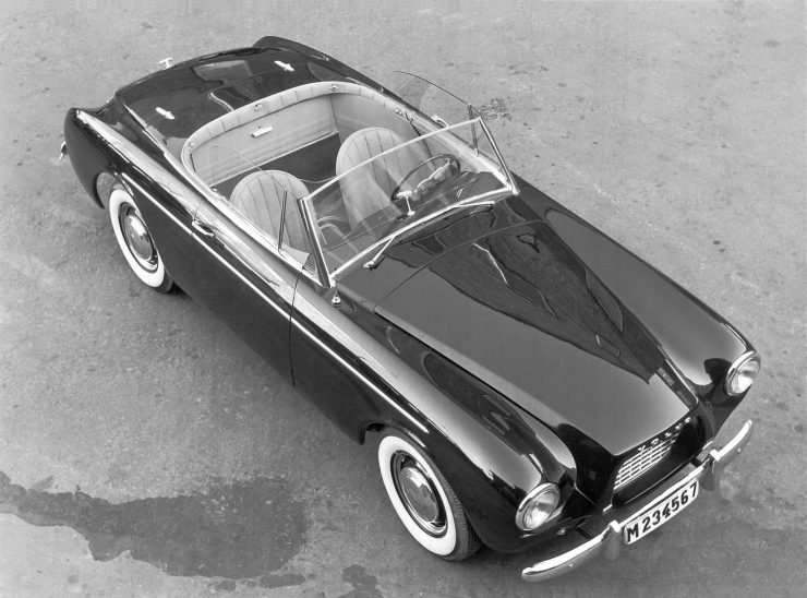 Volvo P1900 sports car Bill Tritt design