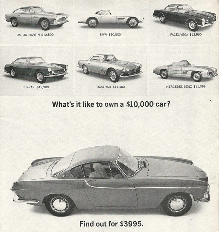 Volvo P1800 coupé advertisement
