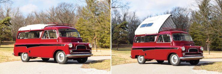 Bedford CA Dormobile Camper Collage