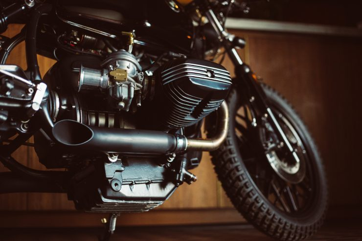 Custom BMW R100 Exhaust