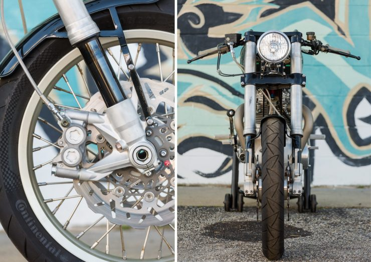 Custom Triumph Motorcycle Details 1