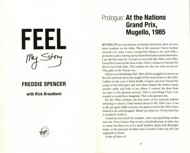 Feel My Story Freddie Spencer Autobiography 2