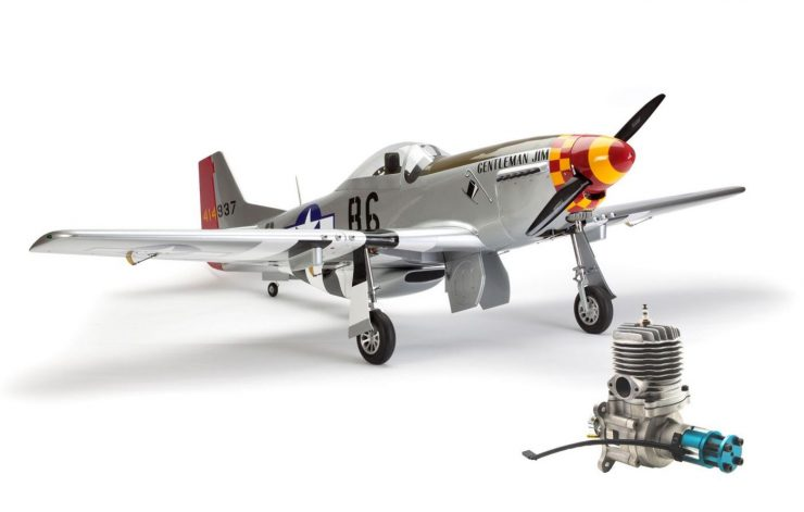 Hangar 9 P-51D Mustang 60cc ARF RC Plane Engine