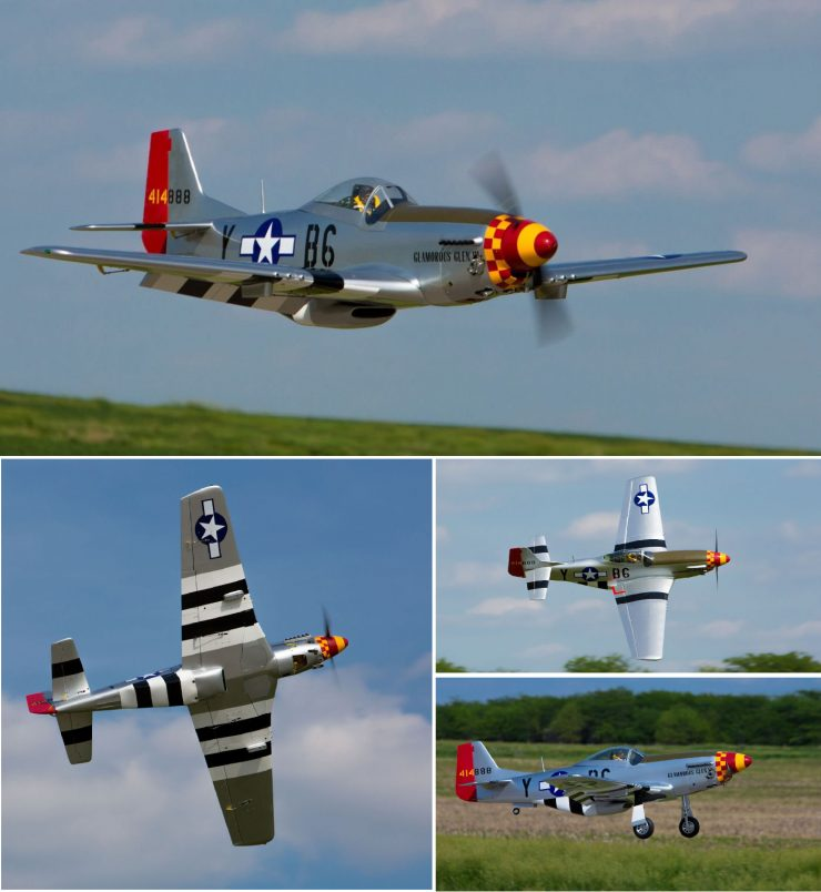 Hangar 9 P-51D Mustang 60cc ARF RC Plane Flying Collage