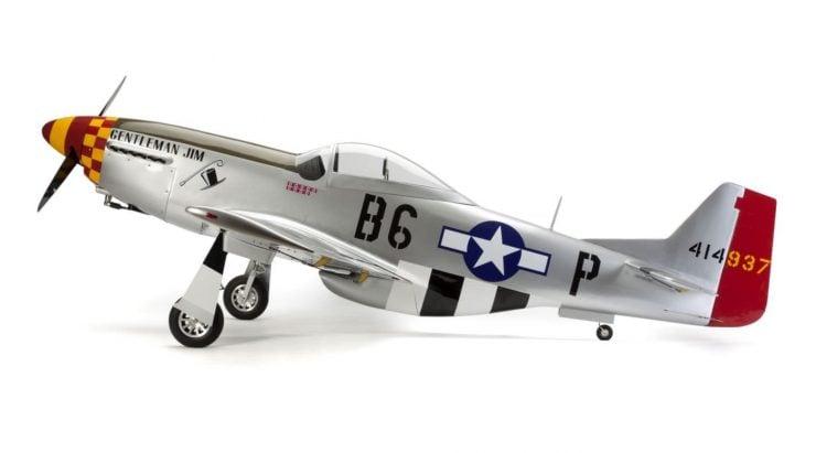 Hangar 9 P-51D Mustang 60cc ARF RC Plane Side