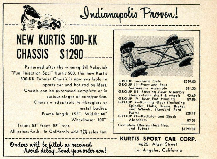 Kurtis 500 KK Chassis