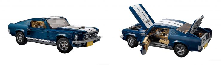 Lego Ford Mustang Collage
