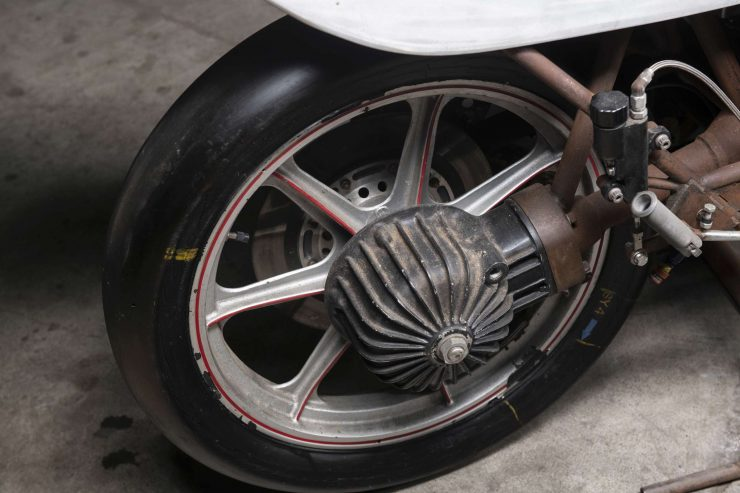 MV Agusta 750 Prototype Turbo Motorcycle Back Wheel