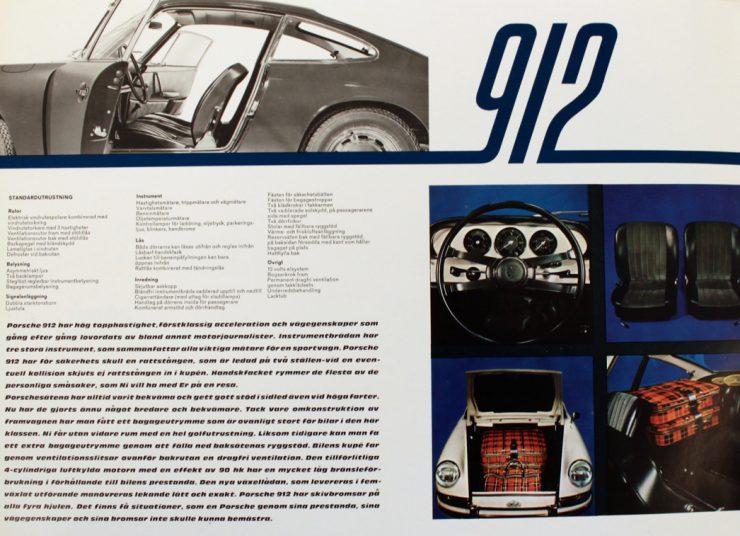 Porsche 912 Brochure
