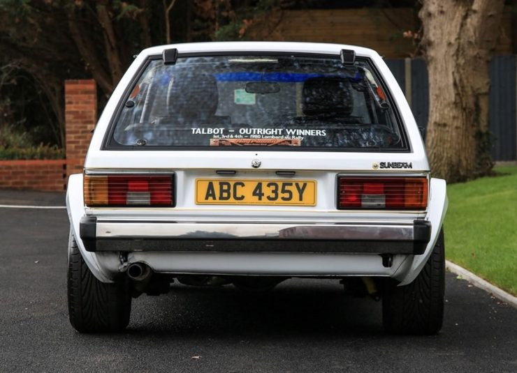 Talbot Sunbeam Lotus Back
