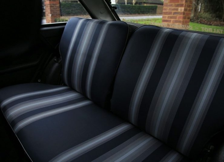 Talbot Sunbeam Lotus Back Seat