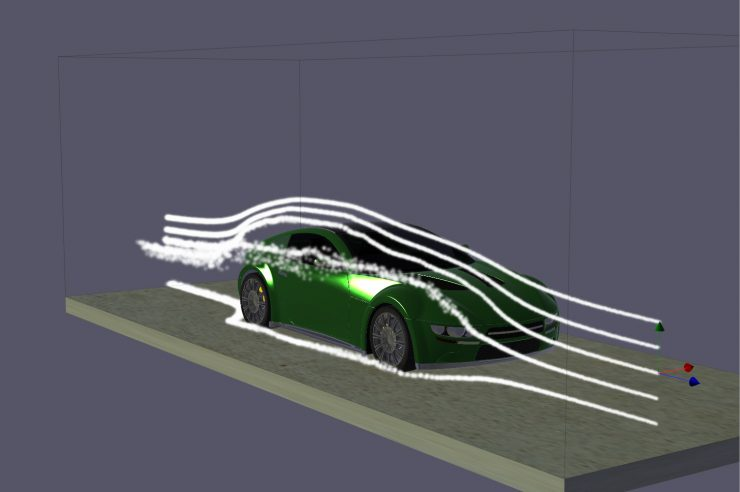SP Concept air flow simulation