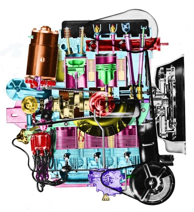 Chevrolet Corvair engine diagram