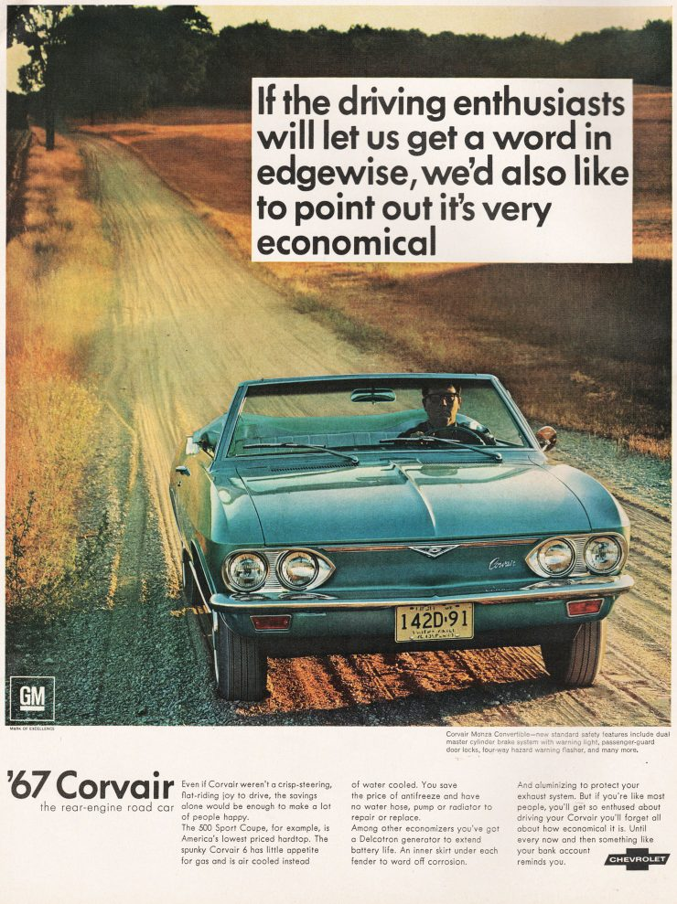 Chevrolet Corvair advertisement