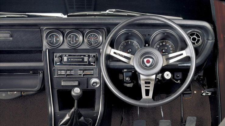 Mazda RX3 interior dashboard