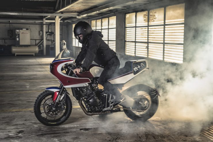 Custom Honda CB1000R Burn Out
