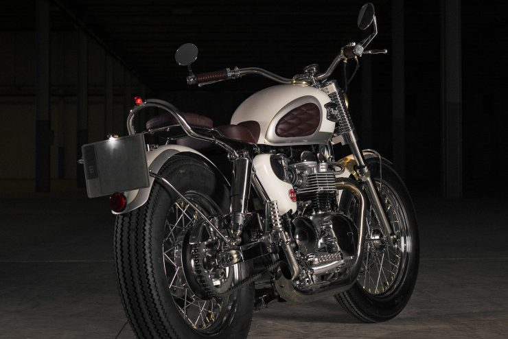 Custom Triumph Bonneville Back