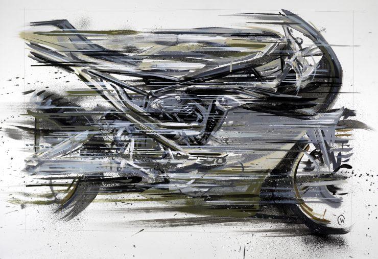 Max Hazan Knucklehead Custom Motorcycle Art